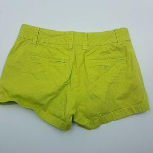 J. Crew Shorts - J. Crew Lime Green Chino Shorts
